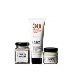 simple as that exfoliant sunscreen and moisturiser